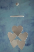 Heart Wind Chime Favors
